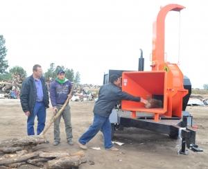 El Municipio puso en funcionamiento una nueva chipeadora en PLAMARES