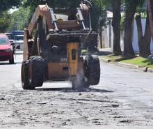 Calles cortadas provisoriamente por trabajos de bacheo