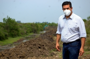 Irigoyen celebró el inicio de la segunda etapa de la canalización de los arroyos