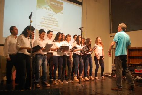 Emotivo encuentro de coros en Casa del Bicentenario