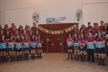 El secretario de Gobierno Municipal Juan López acompañó el acto de egresados del Colegio Barnidio Sorribes