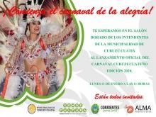 Lanzamiento oficial del carnaval curuzucuateño 2020