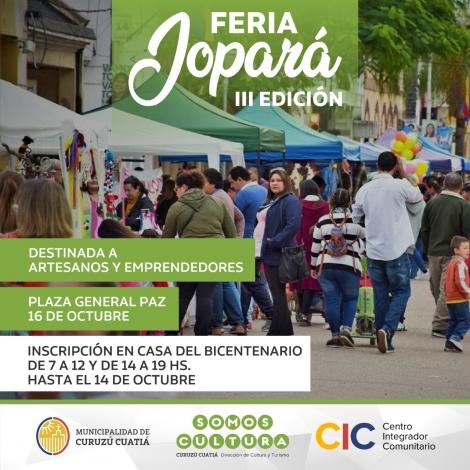 Reglamento de la Feria Jopará - III Edición