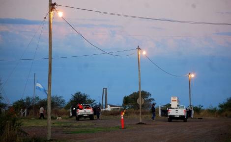 El intendente Irigoyen iluminó el cruce de rutas 23 y 25