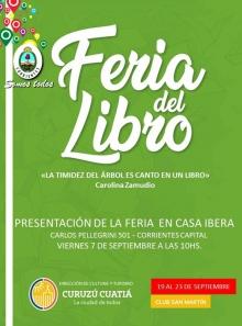 Curuzú lanza su Feria del Libro en Corrientes Capital