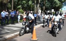 Entregan seis motocicletas nuevas para Tránsito y Seguridad Vial