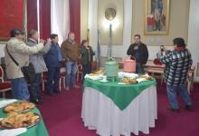 Irigoyen compartió un desayuno con los periodistas en su día
