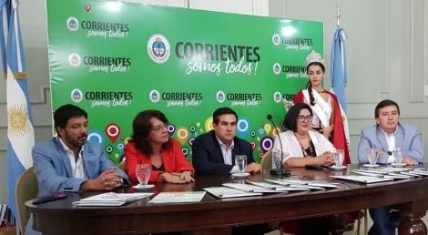 Presentaron en Casa de Gobierno de la Provincia el carnaval curuzucuateño 2020