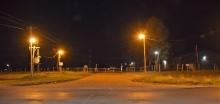 Nueva iluminación en accesos sobre ruta 126