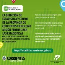 El Gobierno Provincial está encuestando sobre calidad de vida