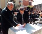 Lalo Domínguez firmó  convenio por cámaras de seguridad