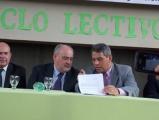 Firma de convenio por pavimentación de Avda. Laprida