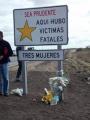 Recordaron a mujeres fallecidas en la Ruta 119