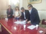 Firma de convenio con el  Colegio de Escribano