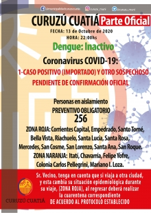 Anuncian caso sospechoso de covid-19 en Curuzú