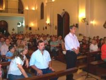 El Intendente Domínguez recibió la bendición en el comienzo de su gestión