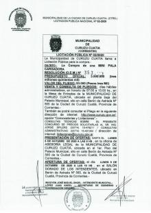 Licitación pública N° 02/2020
