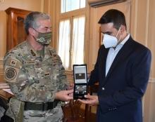 El intendente Irigoyen saludó al Jefe del Estado Mayor General del Ejército